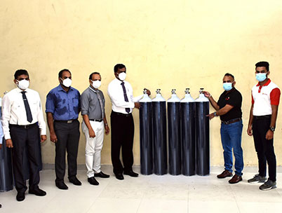 Dialog Axiata Donation Meets Essential Oxygen Requirements at Hospitals in Kalutara District